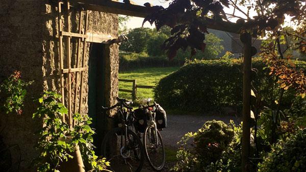 Blick von der Terrasse der Poplar Farm