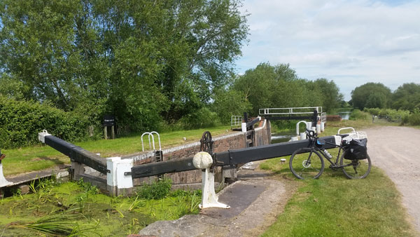 Schleuse am Bridgwater And Taunton Canal