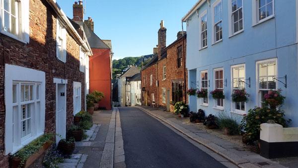 Straße in Plymouth