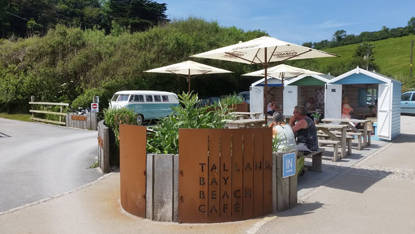 Beach-Cafe in Talland Bay