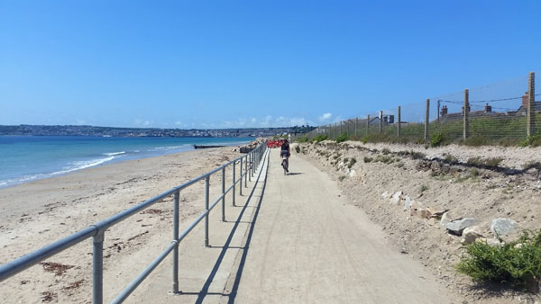 Radweg am Strand nach Penzance