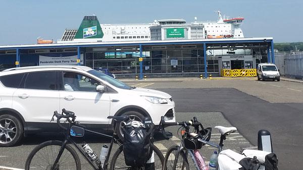 Unsere Fähre nach Irland