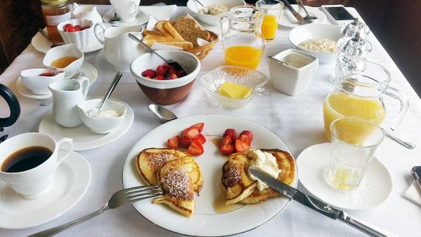 Frühstück im Ballinclea B&B